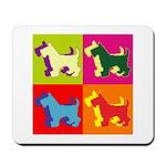 Scottish Terrier Silhouette Pop Art Mousepad