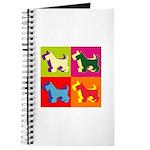 Scottish Terrier Silhouette Pop Art Journal