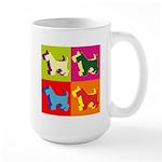 Scottish Terrier Silhouette Pop Art Large Mug