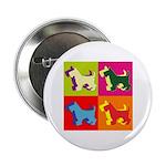 Scottish Terrier Silhouette Pop Art 2.25