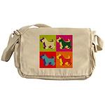 Scottish Terrier Silhouette Pop Art Messenger Bag
