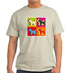 Scottish Terrier Silhouette Pop Art Light T-Shirt