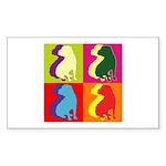 Shar Pei Silhouette Pop Art Sticker (Rectangle 10