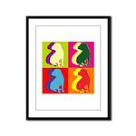 Shar Pei Silhouette Pop Art Framed Panel Print