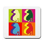 Shar Pei Silhouette Pop Art Mousepad