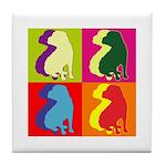 Shar Pei Silhouette Pop Art Tile Coaster