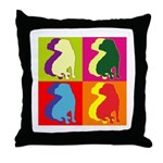 Shar Pei Silhouette Pop Art Throw Pillow