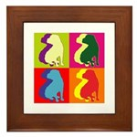 Shar Pei Silhouette Pop Art Framed Tile
