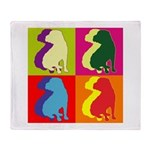 Shar Pei Silhouette Pop Art Throw Blanket