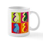 Shar Pei Silhouette Pop Art Mug