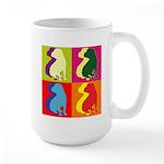 Shar Pei Silhouette Pop Art Large Mug