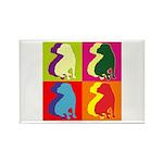Shar Pei Silhouette Pop Art Rectangle Magnet (10 p