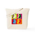 Shar Pei Silhouette Pop Art Tote Bag