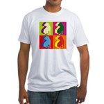 Shar Pei Silhouette Pop Art Fitted T-Shirt
