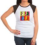Shar Pei Silhouette Pop Art Women's Cap Sleeve T-S