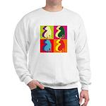 Shar Pei Silhouette Pop Art Sweatshirt