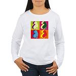 Shar Pei Silhouette Pop Art Women's Long Sleeve T-