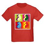 Shar Pei Silhouette Pop Art Kids Dark T-Shirt