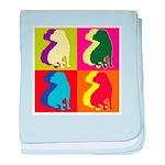 Shar Pei Silhouette Pop Art baby blanket