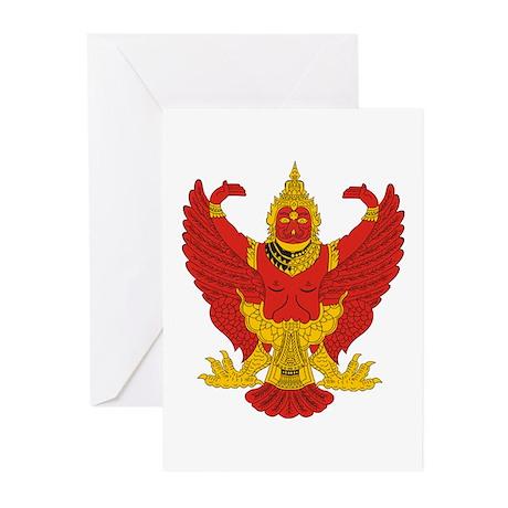 Thailand Emblem Greeting Cards (Pk of 10)