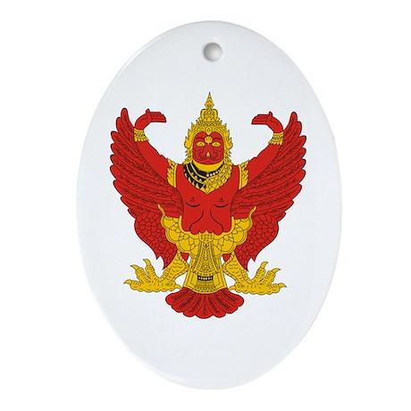 Thailand Emblem Oval Ornament