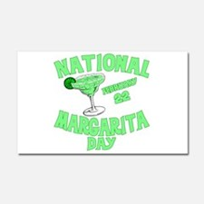 National Margarita Day Car Magnet 20 x 12