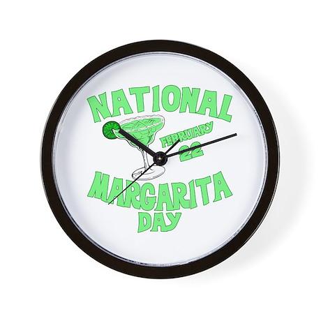 National Margarita Day Wall Clock
