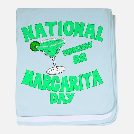 National Margarita Day baby blanket