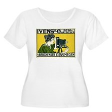 Vintage Camera Womens Plus Size Scoop Neck T-Shirt