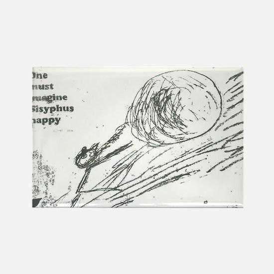 Sisyphus Ink Rectangle Magnet