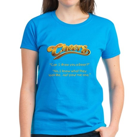 Cheers Norm Beer Quote Women's Dark T-Shirt