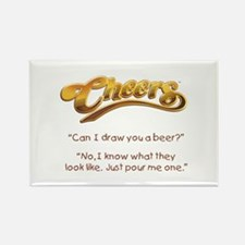 Cheers Norm Beer Quote Rectangle Magnet