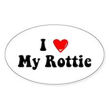 I Heart My Rottie Decal