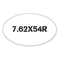 Firearms Oval Stickers Decal