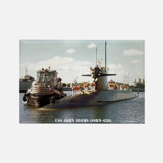 USS JOHN ADAMS Rectangle Magnet