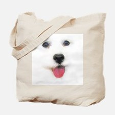 Bichon face Tote Bag