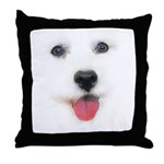 Bichon face Throw Pillow