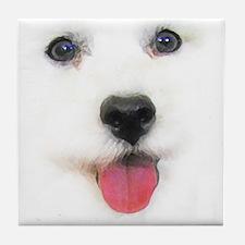 Bichon face Tile Coaster