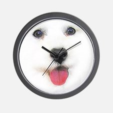 Bichon face Wall Clock