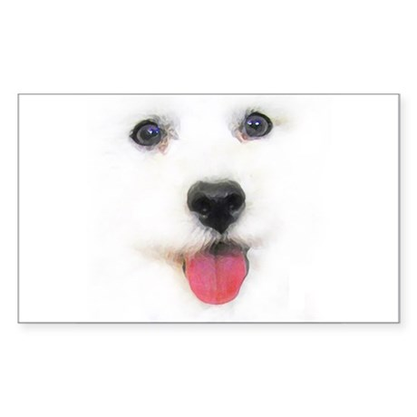 Bichon face Rectangle Sticker