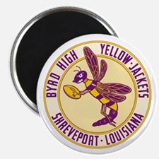 Byrd High Yellow Jackets Magnet