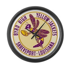 Byrd High Yellow Jackets Large Wall Clock