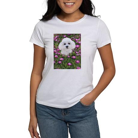 Bichon in Flowers Women's T-Shirt