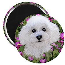 Bichon in Flowers Magnet