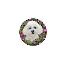 Bichon in Flowers Mini Button