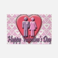 Valentine's Couple Rectangle Magnet