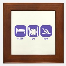 Sleep Eat Row Framed Tile