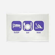 Sleep Eat Row Rectangle Magnet