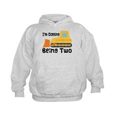 Personalized 2nd Birthday Bulldozer Hoodie