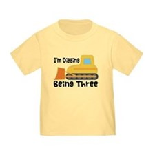 Personalized 3rd Birthday Bulldozer T